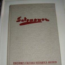 Libros de segunda mano: SOTOMAYOR, MAQUES DE LOZOYA, VIDA Y OBRA, 1975. Lote 29189832