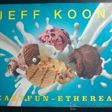 Libros de segunda mano: JEFF KOONS - EASY FUN - ETHEREAL - LIBRO CON NUMEROSAS FOTOGRAFÍAS, TEXTO EN INGLÉS. Lote 30034421