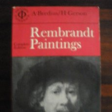 Libros de segunda mano: REMBRANDT. THE COMPLETE EDITION OF THE PAINTINGS--ABRAHAM BREDIUS – HORST GERSON . Lote 32352777