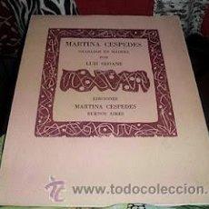 Libros de segunda mano: MARTINA CÉSPEDES. LUIS SEOANE. GRABADOS EN MADERA DE LUIS SEOANE. DESCATALOGADO.. Lote 32831431