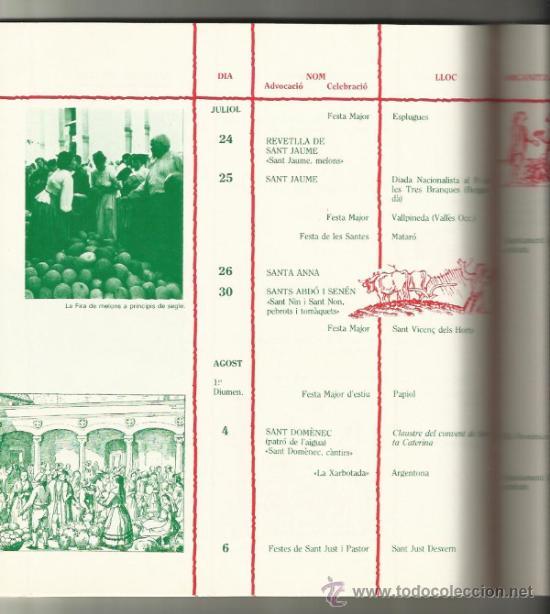 Libros de segunda mano: CALENDARI DE LES FESTES I TRADICIONS BARCELONA I RODALIES 1980 - Foto 3 - 33499869