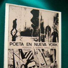Libros de segunda mano: POETA EN NUEVA YORK-POEMAS DE FEDERICO GARCIA LORCA-RAUL CAPITANI-1986-1ª EDICION 250 EJEMP.. Lote 34466930