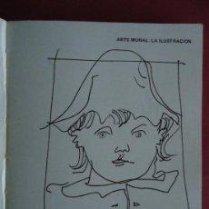 Libros de segunda mano: GALICIA.'ARTE MURAL.LA ILUSTRACION' LUIS SEOANE. CON DEDICATORIA Y DIBUJO ORIGINAL DEL AUTOR.1974. Lote 41693604