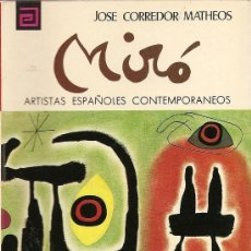 Libros de segunda mano: MIRÓ DE JOSÉ CORREDOR MATHEOS (MEC). Lote 35340392