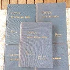 Libros de segunda mano: GOYA. 5 MONOGRAFÍAS DE ANTONIO F. FUSTER. EDITADAS POR HISPANO-INGLESA DE REASEGUROS 1963-1967. Lote 36321629