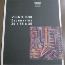 Libros de segunda mano: VICENTE ROJO. ESCENARIOS 35 X 35 X 35. CATÁLOGO ARTUR RAMON ART CONTEMPORANI. EN ESPAÑOL. RAREZA!. Lote 37282811