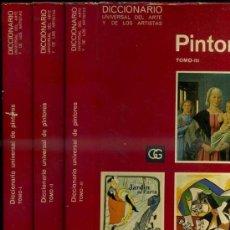 Libros de segunda mano: CIRLOT : DICCIONARIO UNIVERSAL DE PINTORES - 3 TOMOS (G. GILI, 1970). Lote 37314193