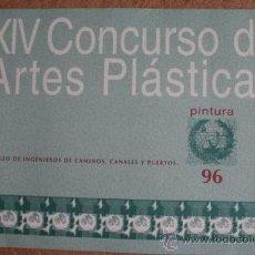 Libros de segunda mano: XIV CONCURSO DE ARTES PLÁSTICAS. PINTURA 96.. Lote 37604152