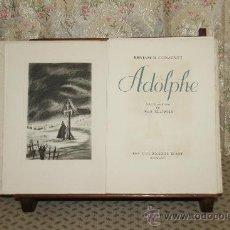 Libros de segunda mano: 3420- ADOLPHE. BEMJAMIN CONSTANT. EDIT. LES DOCUMENTS D'ART. 1945.. Lote 37685173