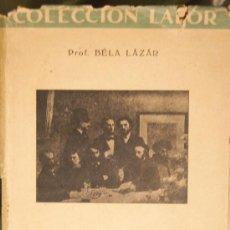 Libros de segunda mano: BÉLA LÁZAR. LOS PINTORES IMPRESIONISTAS. COLECCIÓN LABOR. BARCELONA, 1942.. Lote 37932958