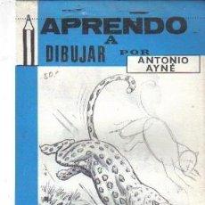 Libros de segunda mano: APRENDO A DIBUJAR, POR ANTONIO AYNÉ --REFM4E3. Lote 38700725