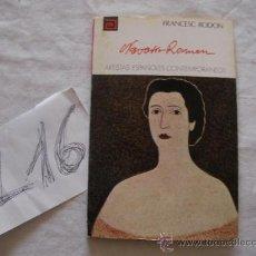 Libros de segunda mano: ANTIGUO LIBRO COLECCION ARTISTAS ESPAÑOLES CONTEMPORANEOS - NAVARRO RAMON - FRANCESC RODON. Lote 38899926