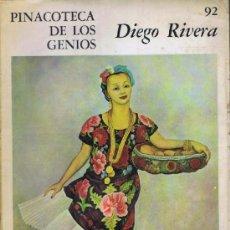Libros de segunda mano: DIEGO RIVERA. PINACOTECA DE LOS GENIOS, 92. BUENOS AIRES: CODEX, 1964. ILUSTRADA. 26.5X35.5. RÚSTICA. Lote 38888515