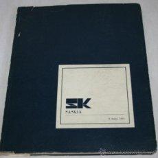 Libros de segunda mano: CATALOGO DE SK SASKIA SUBASTAS 1973 . Lote 39410616