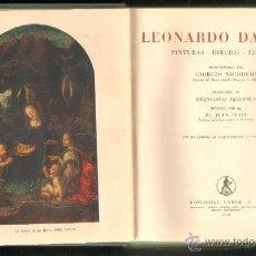 Libros de segunda mano: LEONARDO DA VINCI. PINTURAS-DIBUJOS-ESTUDIOS A-ART-1400. Lote 40217940
