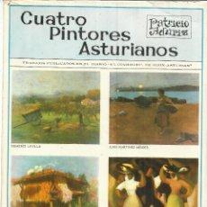 Libros de segunda mano: CUATRO PINTORES ASTURIANOS. PATRICION ADÚRIZ. GIJÓN. 1970. Lote 40629817