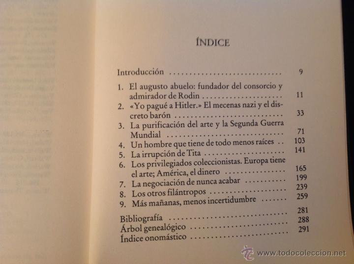 Libros de segunda mano: Los Thyssen, por amor al arte, de Conxa Rodríguez, grupo Zeta 1997 - Foto 5 - 40741388
