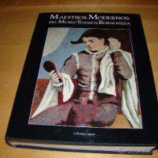 Libros de segunda mano: MAESTROS MODERNOS DEL MUSEO THYSSEN BORNEMISZA. Lote 41527227