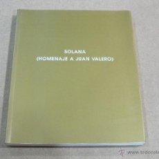 Libros de segunda mano: SOLANA (HOMENAJE A JUAN VALERO) - GALERIA LEANDRO NAVARRO - 2002. Lote 41732637