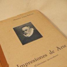 Libros de segunda mano: IMPRESIONES DE ARTE DE MARIANO LOPEZ/ROBERTS. Lote 42567515