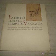 Libros de segunda mano: EL DIBUJO EUROPEO EN TIEMPO DE VELÁZQUEZ DE LA REAL ACADEMIA DE BELLAS ARTES DE SAN FERNANDO - 1999. Lote 43420181