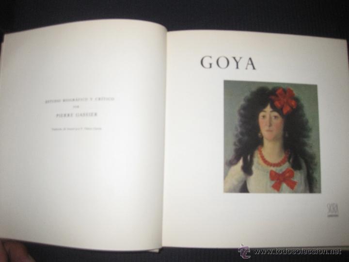 GOYA. PIERRE GASSIER. SKIRA 1966. (Libros de Segunda Mano - Bellas artes, ocio y coleccionismo - Pintura)
