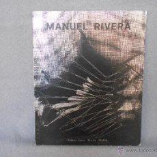 Libros de segunda mano: MANUEL RIVERA EXPOSICION 1956 - 1975. Lote 45185833