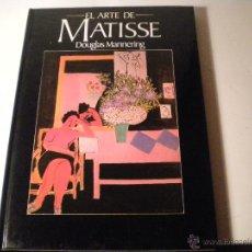 Libros de segunda mano: EL ARTE DE MATISSE. Lote 45912875