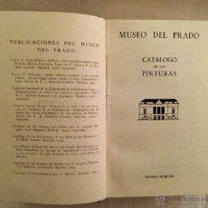 Libros de segunda mano: CATÁLOGO DEL MUSEO DEL PRADO., 1.963, . Lote 46124197