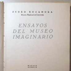 Libros de segunda mano: ROCAMORA, PEDRO - ENSAYOS DEL MUSEO IMAGINARIO - MADRID 1949 - PAPEL GVARRO NUMERADO - ILUSTRADO. Lote 144209596