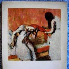 Libros de segunda mano: DEGAS - MUJERES ARREGLANDOSE, LAVANDERAS, MODISTAS - MAURICE SERULLAZ - PINTURA - EDIT. GILI,1958.. Lote 46948667