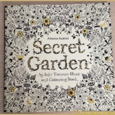 Libros de segunda mano: EUREKA - EL JARDÍN SECRETO - SECRET GARDEN - LIBRO PARA COLOREAR - COLOURING BOOK - JOHANNA BASFORD. Lote 47138164