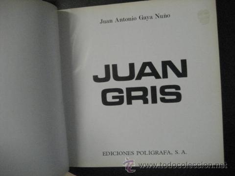 Libros de segunda mano: juan gris, juan antonio gaya nuño , gran formato, OFERTA - Foto 5 - 49054512