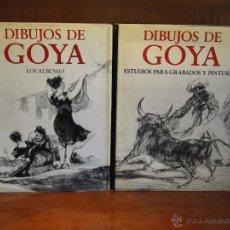 Libros de segunda mano: DIBUJOS DE GOYA. (2VOL.-OBRA COMPLETA.).-GASSIER, PIERRE. Lote 49326913