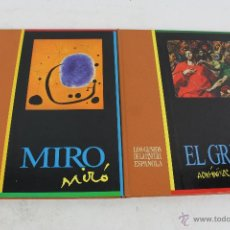 Libros de segunda mano: L- 1717. LOTE 2 LIBROS. LOS GENIOS DE LA PINTURA ESPAÑOLA: EL GRECO Y MIRO. 1988. . Lote 49732183
