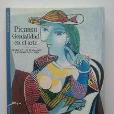 Libros de segunda mano: PICASSO GENIALIDAD EN EL ARTE - BIBLIOTECA ILUSTRADA DESCUBRIR EL ARTE - BLUME - PINTURA. Lote 49876290