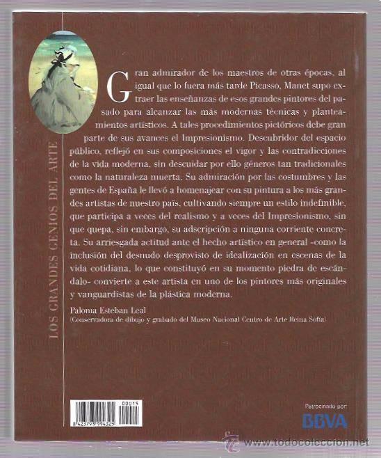 Libros de segunda mano: MANET. LOS GRANDES GENIOS DEL ARTE. Nº15. BIBLIOTECA EL MUNDO. UNIDAD EDITORIAL, S.A. 2003 - Foto 2 - 49917971