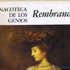 Libros de segunda mano: REMBRANDT - PINACOTECA DE LOS GENIOS. Lote 50168720