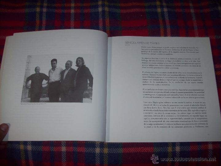 Libros de segunda mano: ANTONI TÀPIES.PELAIRES.CENTRE CULTURAL CONTEMPORANI. 1ª EDICIÓN 1999.EJEMPLAR BUSCADÍSIMO.FOTOS. - Foto 5 - 50640871