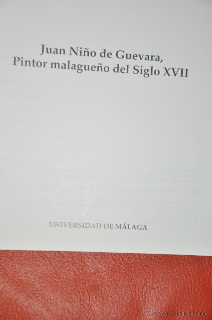 Libros de segunda mano: JUAN NIÑO DE GUEVARA PINTOR MALAGUEÑO DEL SIGLO XVII , AGUSTIN CLAVIJO , MÁLAGA 1998 - Foto 2 - 94596172