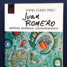 Libros de segunda mano: PINTURA ARTISTAS ESPAÑOLES CONTEMPORÁNEOS 50 JUAN ROMERO RAFAEL GÓMEZ PÉREZ MEC AÑOS 70 NUEVO. Lote 217761910