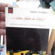 Libros de segunda mano: LIBRO JULIAN ARTIN DE VIDALES TERESA SOUBRIET ARTISTAS ESPAÑOLES CONTEMPORANEOS Nº 139 1977 L-10220. Lote 52787892