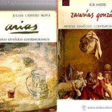 Libros de segunda mano: LOTE 65 LIBROS ARTISTAS ESPAÑOLES CONTEMPORANEOS (DELAPUENTE, BARBADILLO, RABA, CARPE, ALGARA, TENO. Lote 52912413