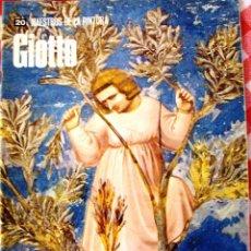 Libros de segunda mano: MAESTROS DE LA PINTURA EDIT RIZZOLI NUMERO 20 GIOTTO. Lote 52992834