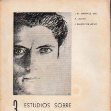 Libros de segunda mano: 3 TRES ESTUDIOS SOBRE GREGORIO PRIETO (VV.AA. 1952) SIN USAR JAMÁS.. Lote 57886406