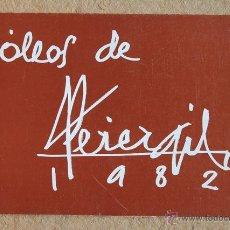 Libros de segunda mano: ÓLEOS DE PEREZGIL. 1982. SALÓN CANO. DEL 10 AL 30 DE MAYO DE 1982.. Lote 53301182