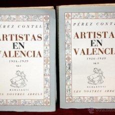 Libros de segunda mano: ARTISTAS EN VALENCIA 1936-1939 POR PEREZ CONTEL. AÑO 1986. EDICIÓN DE 1000 EJEMPLARES. Lote 53908532