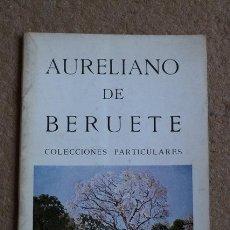Libros de segunda mano: AURELIANO DE BERUETE. COLECCIONES PARTICULARES. MADRID, SALA REPESA, 1969.. Lote 54562239