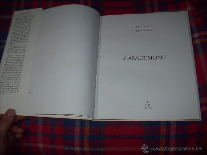 Libros de segunda mano: CASADEMONT.J. BENET / J. IRIARTE.DEDICATÒRIA I FIRMA ORIGINAL DEL PINTOR FRANCESC DASSÍS CASADEMONT - Foto 4 - 54622580