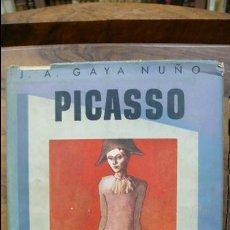 Libros de segunda mano: PICASSO. JUAN ANTONIO GAYA NUÑO. 1957. . Lote 54743028